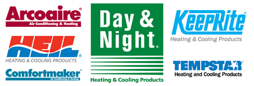 Arcoaire, Heil, Comfortmaker, Day & Night, Keeprite, and Tempstar Related HVAC Dealer Web Sites